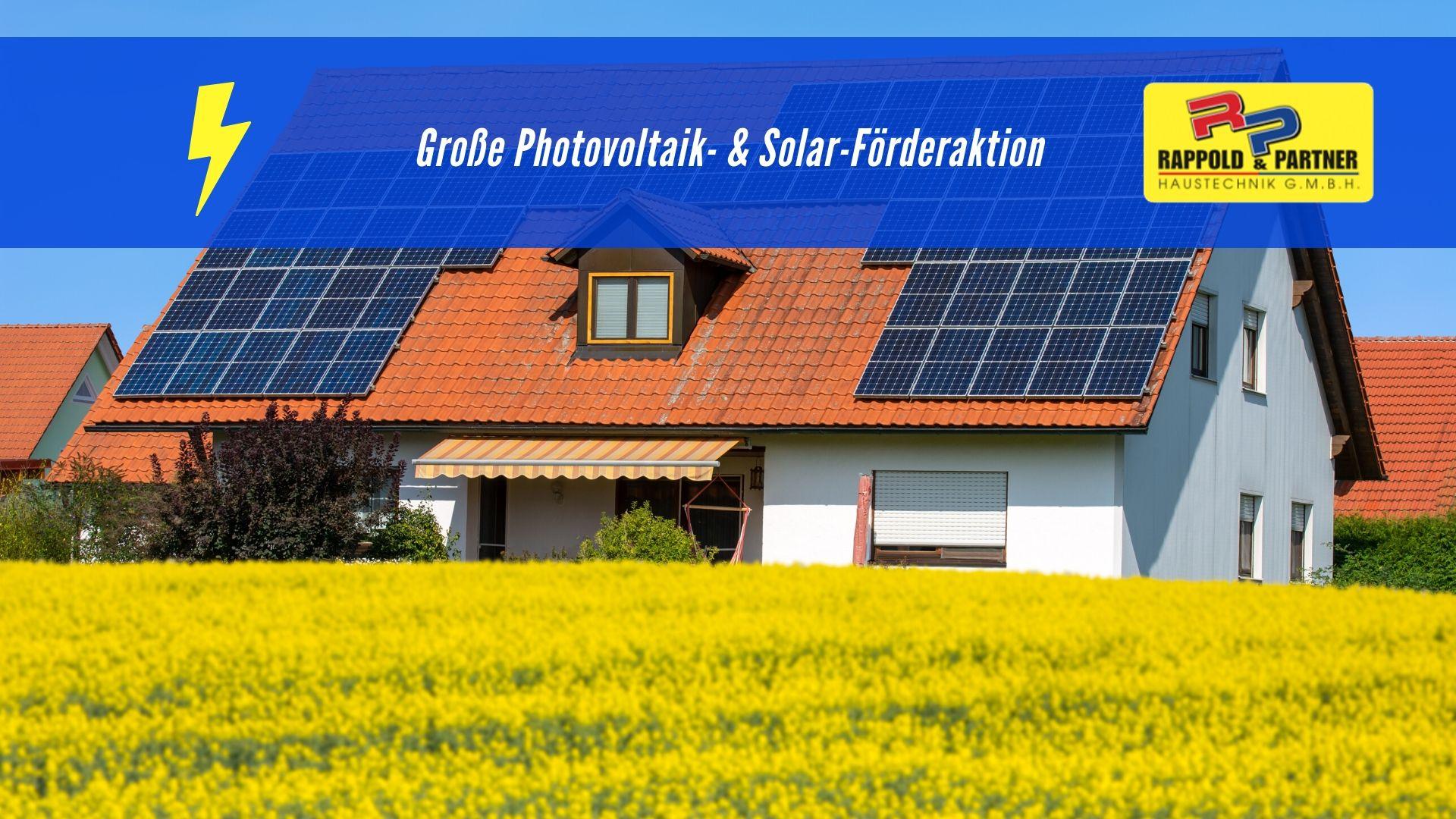 große photovoltaik analgen und solaraktion